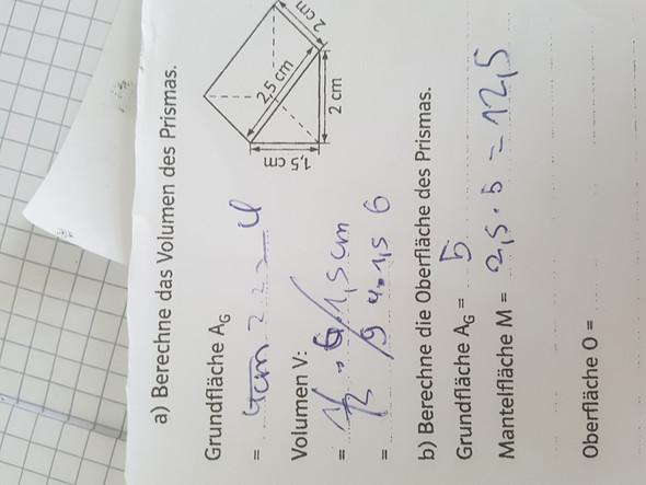 Wie berechnet man den umfang eines prismas aus