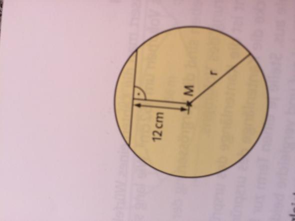 Wie berechne ich Sehne und Radius bei folgender Aufgabe?