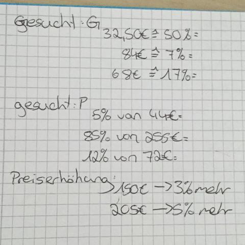 Prozentrechnung  - (Mathe, Mathematik, Prozentrechnung)