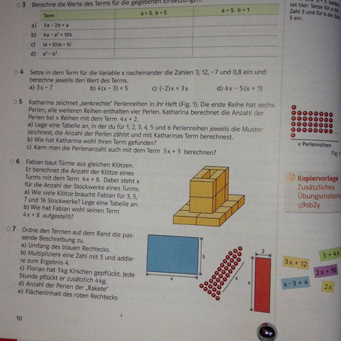 Aufgabe 5 & 7 - (Schule, Terme)