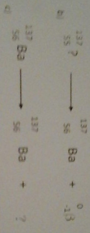 b), c) - (Physik, Zerfallsgleichung)