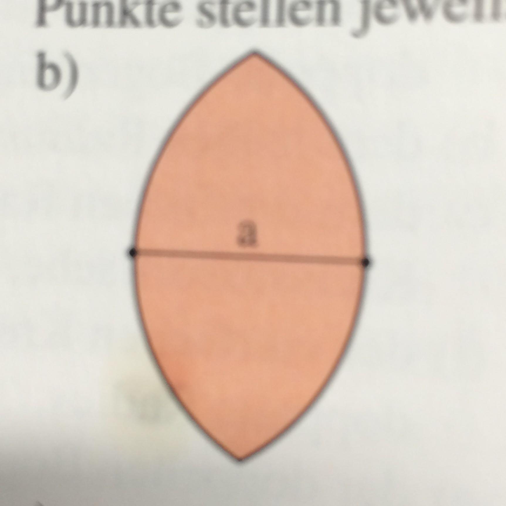 wie berechnet man bei dieser figur den flächeninhalt und den