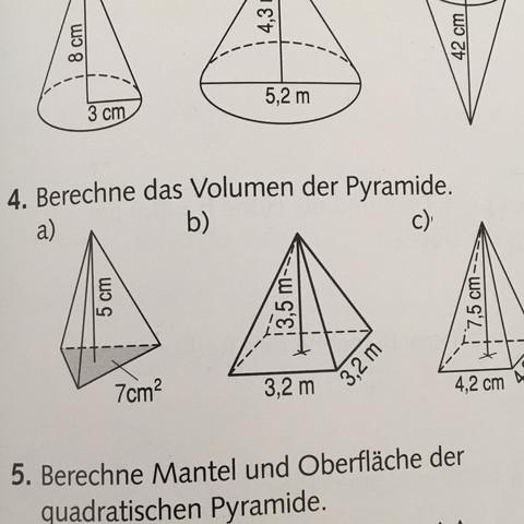 wie berechnet man das volumen einer pyramideeee schule mathe mathematik. Black Bedroom Furniture Sets. Home Design Ideas