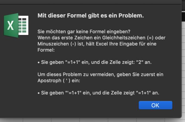 - (Computer, Excel, excel-formel)