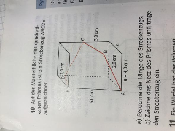 Wie berechnet man den Streckenzug bei der Aufgabe?