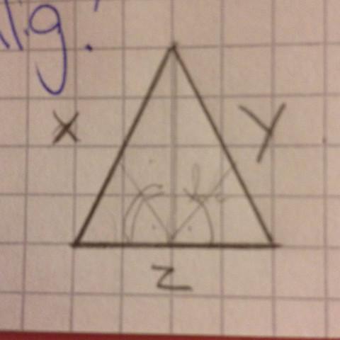 Gleichschenkliges,nicht-rechtwinkliges dreieck  - (Mathe, Dreieck, Satz des Pythagoras)