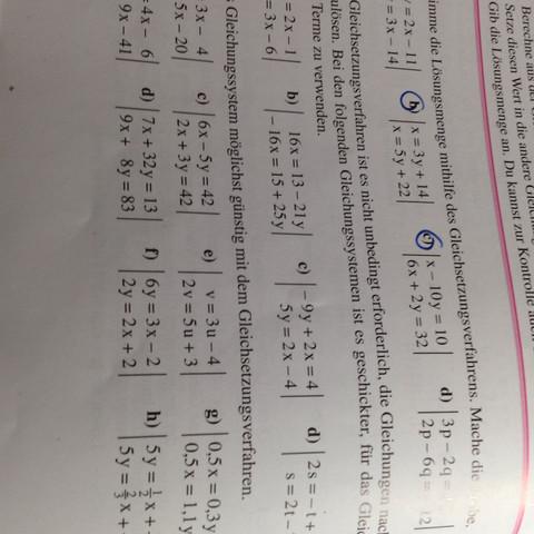 Klasse 8 Gymnasium Mathe Seite 118 A3 c (und b) - (Mathe, Gymnasium, Gleichungen)