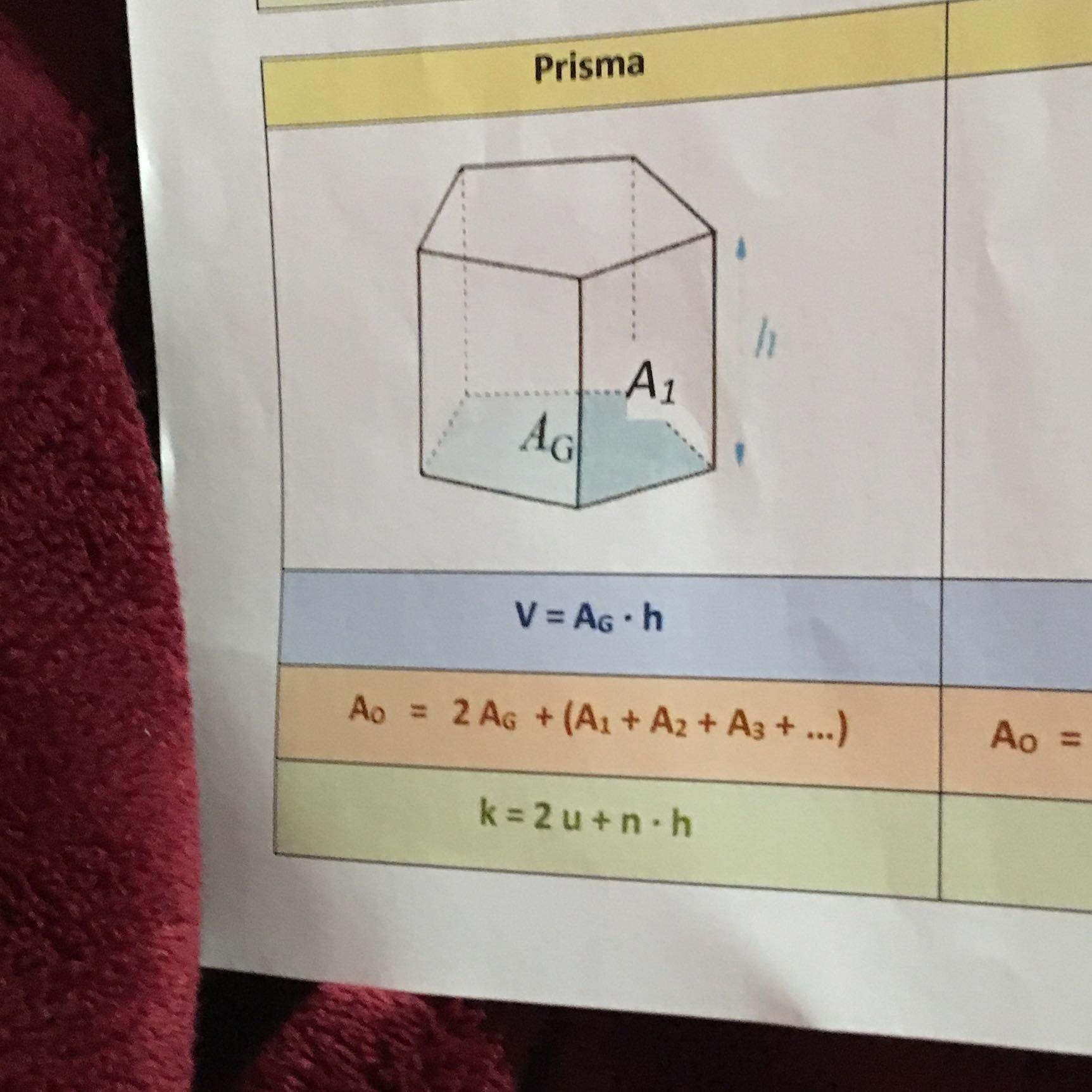 Wie berechnet man die käntenlänge eines Prismas? (Schule, Arbeit, Mathe)