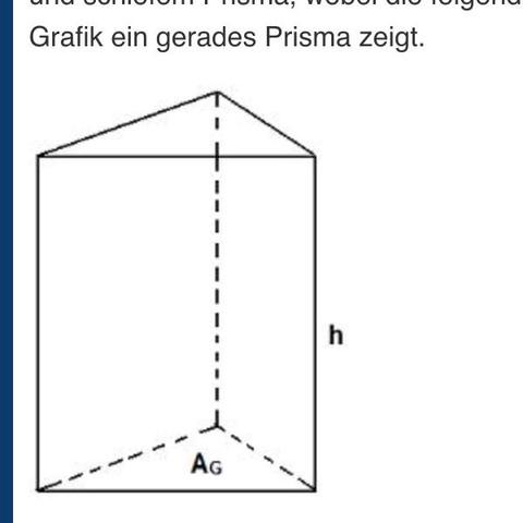 wie berechnet man die masse dieses prismas schule mathe. Black Bedroom Furniture Sets. Home Design Ideas