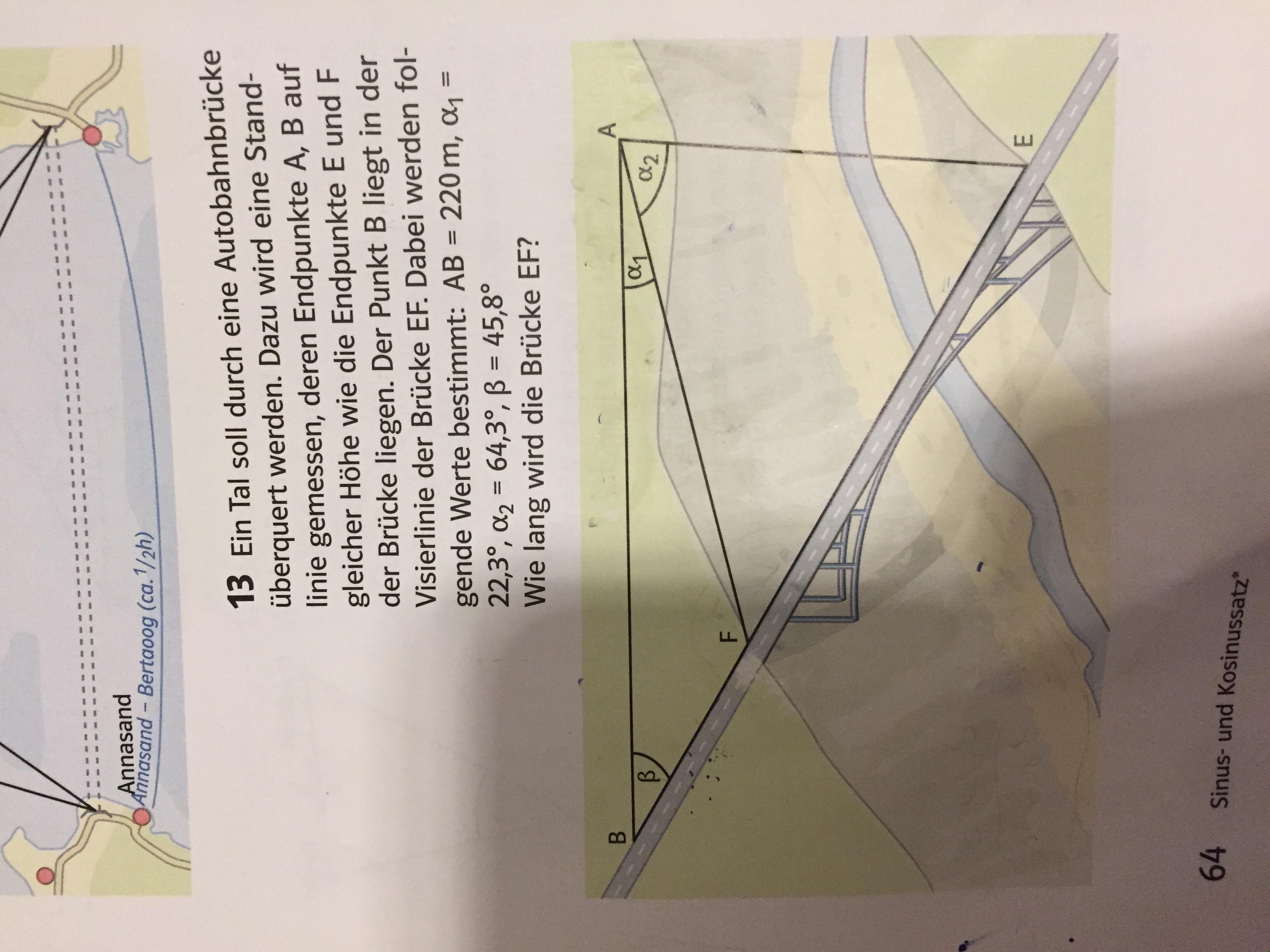 wie berechnet man diese aufgabe mit sinus und kosinussatz mathe mathematik trigonometrie. Black Bedroom Furniture Sets. Home Design Ideas