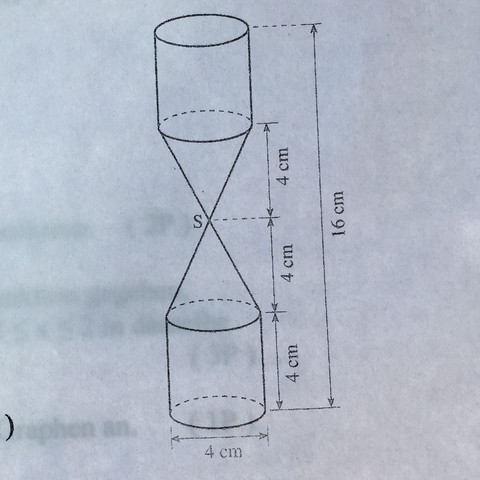 Sanduhr  - (Mathe, Mathematik, körperberechnung)