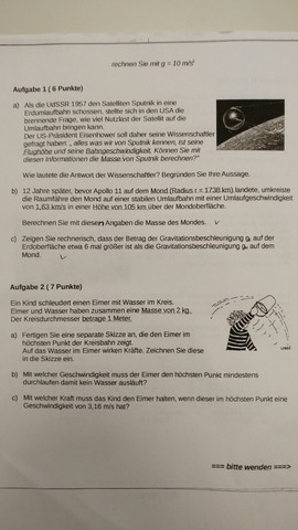 Blatt 1 - (Schule, Mathematik, Physik)
