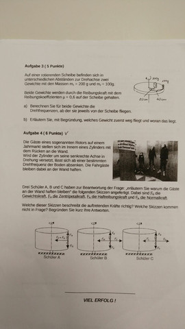 Blatt 2 - (Schule, Mathematik, Physik)