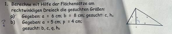 Wie berechnet man q aus h und p?