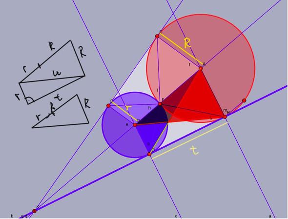 Wie bestimme ich den Radius r aus R und t (Siehe Skizze)?