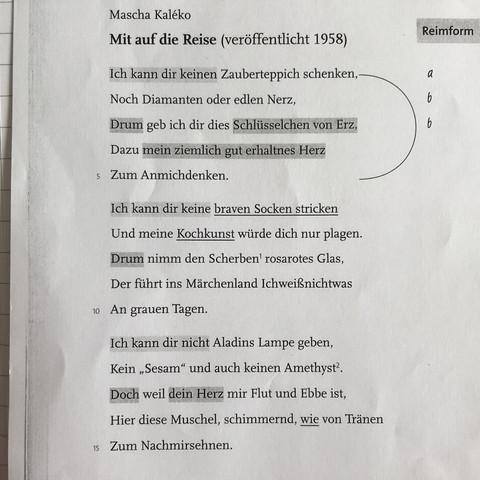 Wie Bestimme Ich Die Kadenz Bei Einem Gedicht Schule