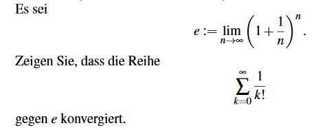 Wie Beweise ich dass eine Reihe konvergiert?