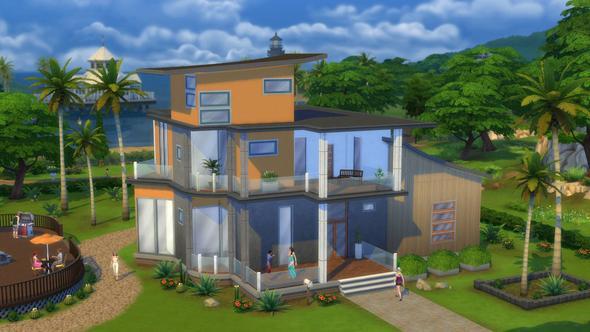 Wie biegt man bei Sims 4 ein Dach?