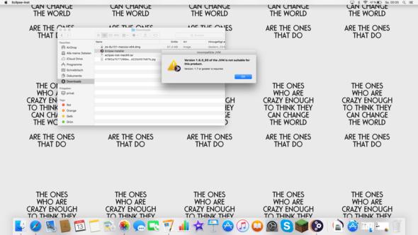 Fehlermeldung - (Macbook, Java, Eclipse)