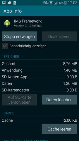 Stopp erzwingen von IMS Framework - (Android, Telekom, Samsung galaxy s5)