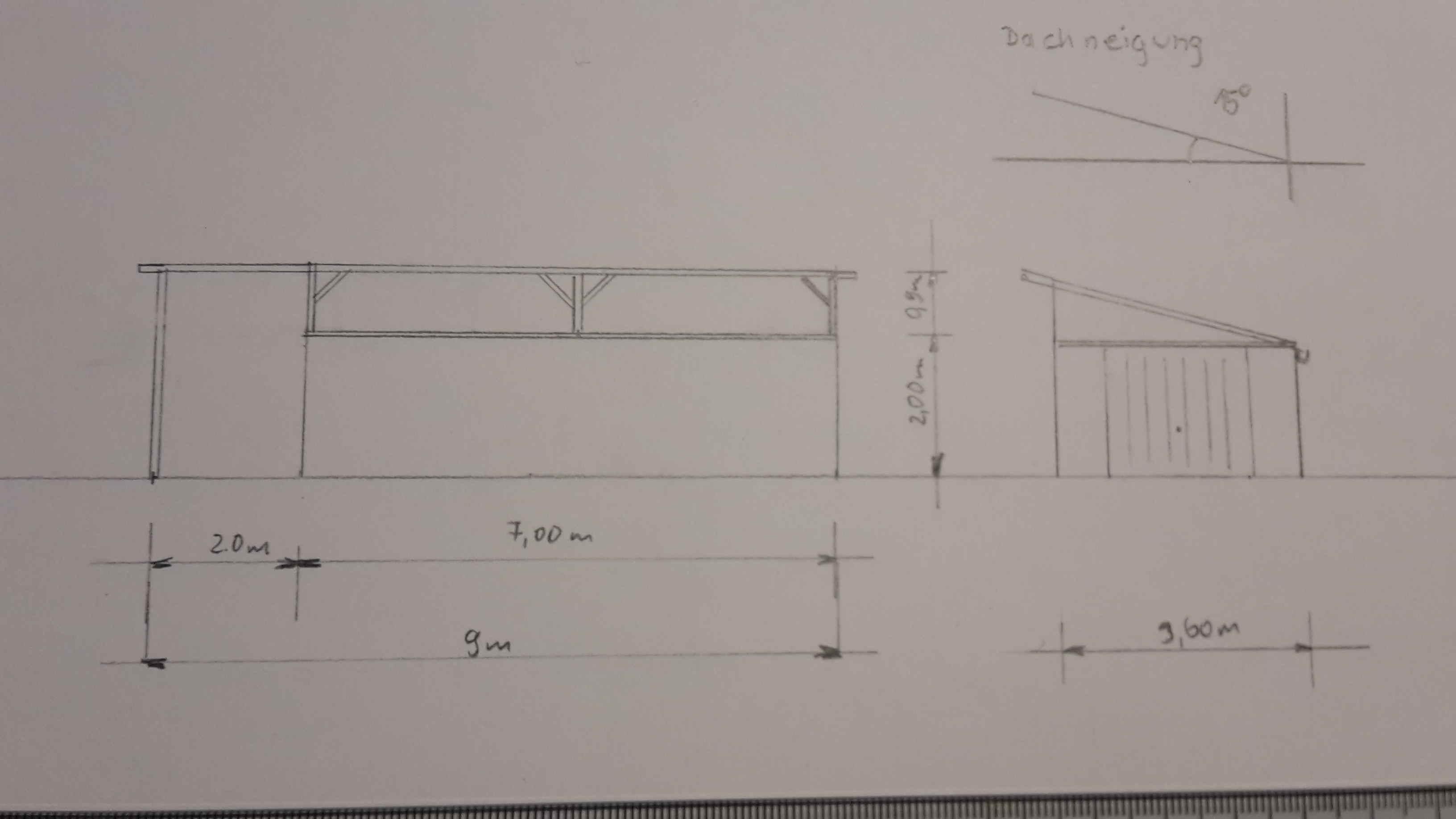 dachneigung pultdach trapezblech perfect das bild wird. Black Bedroom Furniture Sets. Home Design Ideas