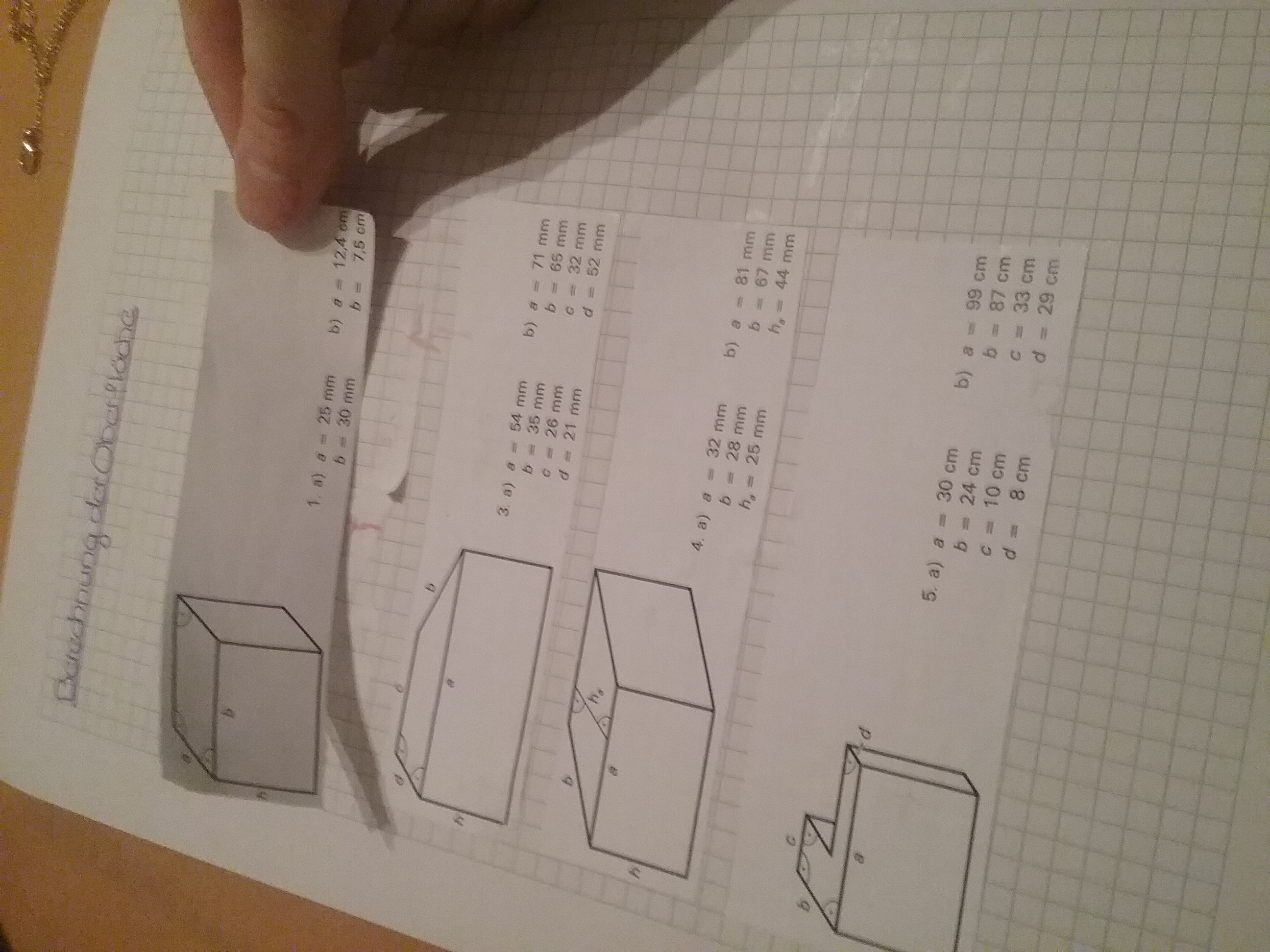 Großartig Oberfläche Von Prismen Arbeitsblatt Antworten ...