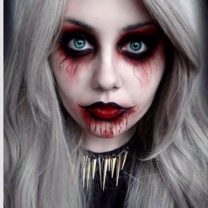 Wie diese halloween make up schminken make up schminke - Halloween schmink ideen ...