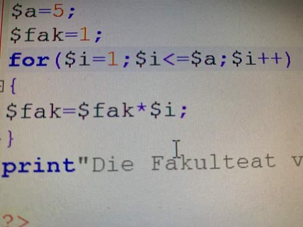 PHP: Wie wird eine Schleife durchlaufen?