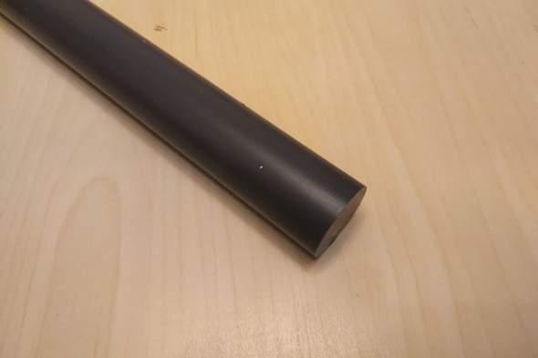 Wie Enden von PVC-Stange abrunden?