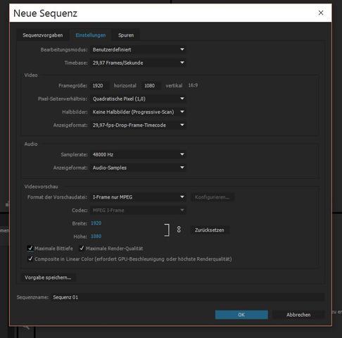 Neue Sequenz - (Computer)