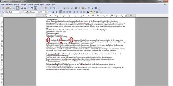 Wie entferne ich in Open Office die grauen Abtrenn-Kästchen zwischen ...