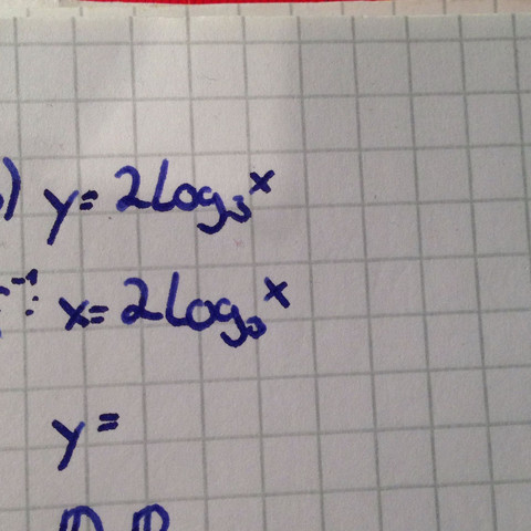 Ich muss die Umkehrfunktion zum Logarithmus aufstellen - (Schule, Mathe, Mathematik)