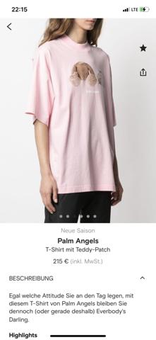 Wie fällt dieses palm angels T-shirt aus?