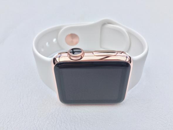 Wie färbe ich die Krone der Apple Watch weiß?