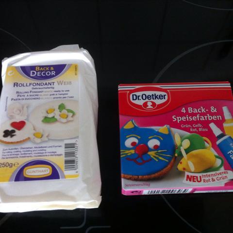 Farbe und Fondant - (backen, Kuchen, Torte)