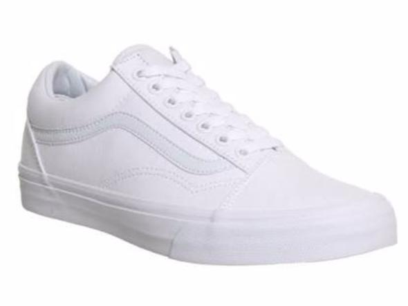 Vans Old Skool komplett weiß - (Schuhe, Farbe, Kunst)