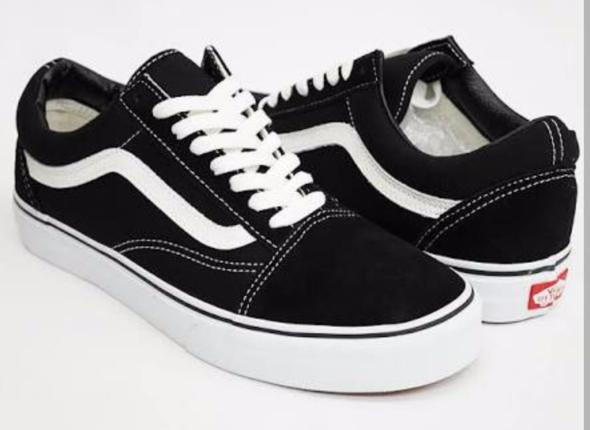 Vans Old Skool schwarz & weiß - (Schuhe, Farbe, Kunst)