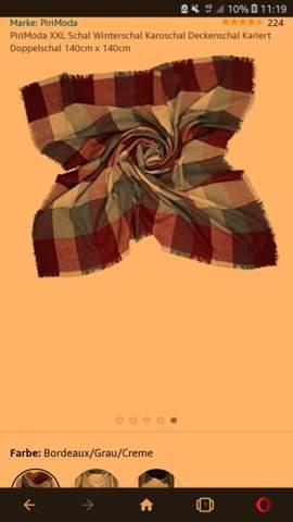 Wie faltet man den Schal so?