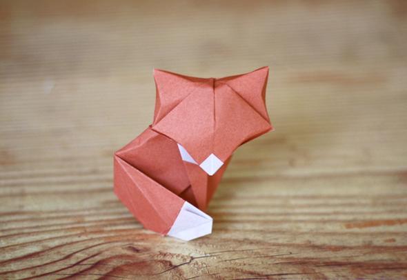 Wie faltet man einen Fuchs aus Papier? (Tiere, basteln, DIY)