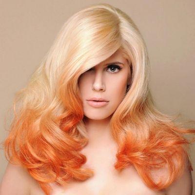 blond orange ombre - (Haare, Fashion, blond)