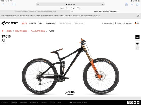 Wie findet ihr das bike? (Cube two 15 sl)?
