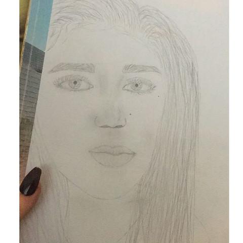Das Bild  - (Gesicht, zeichnen, malen)
