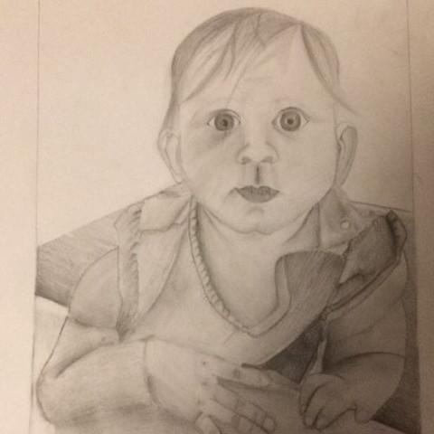 Das ist das Bild.  - (Kunst, Baby, portrait)