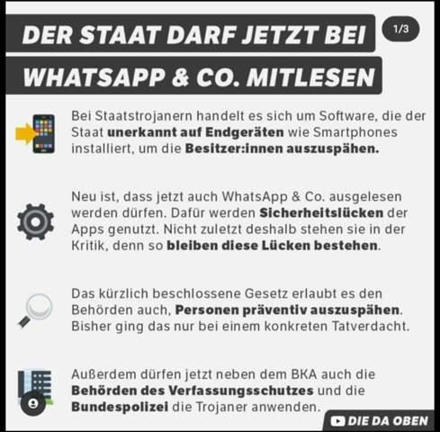 Wie findet ihr das Gesetz welches letztens verabsxhiedet wurde, welches der Regierung erlaubt eure Whatsapp Chats mitzulesen?