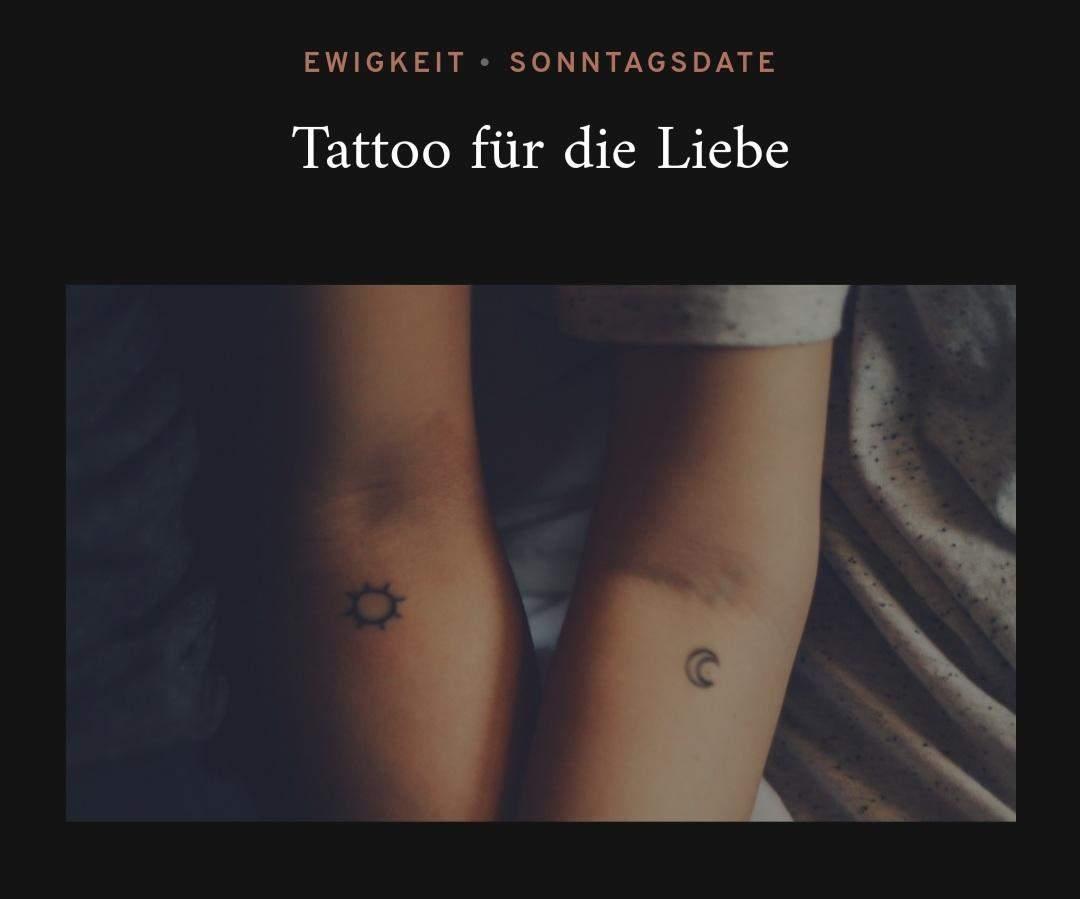 Tattoos liebe partner Partner Tattoo: