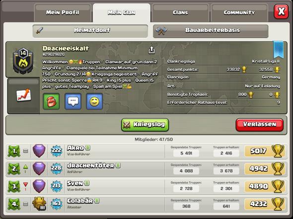 Wie Findet Ihr Den Clan Clash Of Clans Clash Royale Clannad
