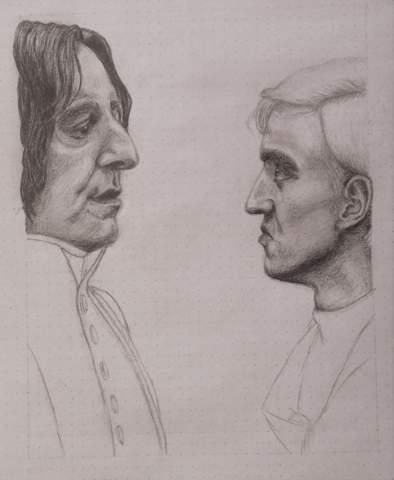 Wie findet ihr die Zeichnung von Snape und Draco bis jetzt?