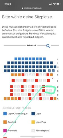 Wie findet ihr diesen Sitzplatz im Kino?