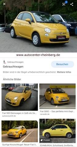 Wie findet ihr einen gelben Fiat 500?