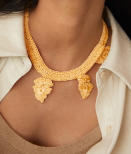 How do you find crocheted necklaces?